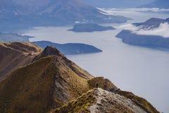 Roys Peak New Zealand - Wanaka stock photo