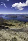 Roys-Spitzen-Neuseeland-Tageswanderung wanaka stockfotos