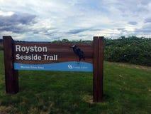 Royston Seaside Trail Royston, F. KR. Arkivfoto