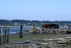 Royston shipwreck site, Vancouver Island Stock Photo
