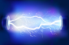 Rozładowanie elektryczność również zwrócić corel ilustracji wektora ilustracja wektor
