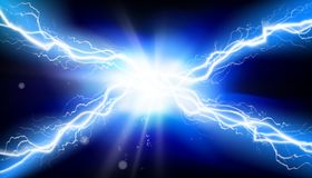 rozładowanie elektryczny Upału oświetlenie również zwrócić corel ilustracji wektora royalty ilustracja