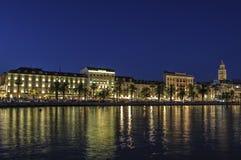 Rozłam, Dalmatia, Croatia, Europe nabrzeże Zdjęcia Royalty Free