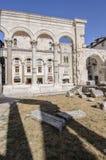 Rozłam, Dalmatia, Croatia, Europe perystyl pałac diocletian Zdjęcia Stock