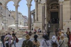 Rozłam, Dalmatia, Croatia, Europe perystyl pałac diocletian Zdjęcia Royalty Free