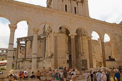 Rozłam - pałac cesarz Diocletian obraz royalty free