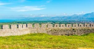Rozafa castle wall ruins. Near Shkodra city Royalty Free Stock Photo