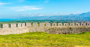 Rozafa castle wall ruins royalty free stock photo