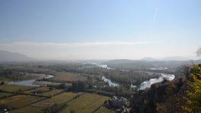"""Rozafa slott, slott nära stad av Shkodà """"r i Albanien Väggar moské, fördärvar och fästningen lager videofilmer"""
