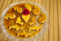Rozata (roÅ ¾ ata)是一个传统克罗地亚人/达尔马希亚甜点心 库存照片