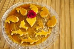Rozata (rožata) is a traditional Croatian / Dalmatian sweet dessert Stock Photo