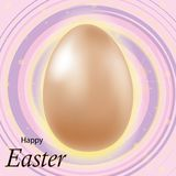 Happy Easter lettering background with realistic Golden glitter decorated eggs . Vector illustration postcard, advertising, royalty free illustration