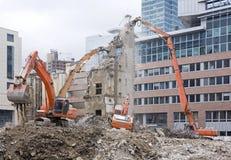 rozbiórka budynków Fotografia Royalty Free