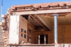 rozbiórka budynków, stara Obraz Royalty Free
