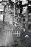 Rozbiórka przemysłowy budynek fotografia stock