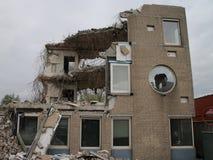 Rozbiórka stary biuro zarząd miasta Zuidplas w holandiach fotografia stock