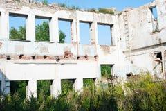 Rozbiórka starzy budynki Zdjęcie Royalty Free