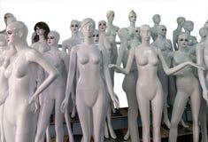 Rozbierający się mannequins Obraz Stock