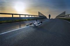 Rozbijać rowerowego wypadek fotografia stock