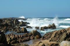rozbija serii fale plażowych Fotografia Royalty Free