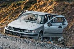 Rozbijający i porzucający samochód Obrazy Royalty Free