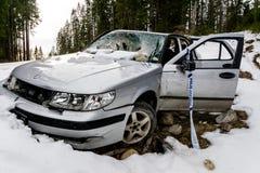 Rozbijający i porzucający samochód Zdjęcie Stock