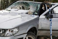 Rozbijający i porzucający samochód Fotografia Royalty Free
