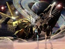 rozbijający statek kosmiczny royalty ilustracja