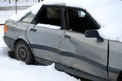 Rozbijający samochód Fotografia Royalty Free