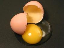 rozbite jajko Zdjęcie Royalty Free