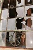 rozbite okno Obraz Stock