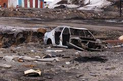 rozbity samochód Zdjęcie Royalty Free