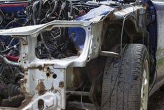 rozbity samochód Zdjęcia Stock