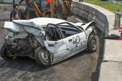 rozbity samochód Fotografia Royalty Free