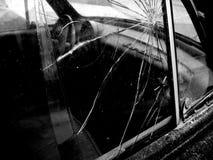 rozbity samochód okno Obrazy Royalty Free