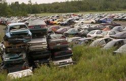 rozbity samochód wysypisko Fotografia Royalty Free