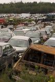 rozbity samochód wysypisko Zdjęcie Stock