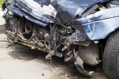 rozbity samochód Zakończenie Fotografia Stock