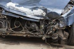 rozbity samochód Zakończenie Zdjęcie Stock