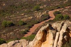 Rozciągliwość droga na wyspie Caprera Obraz Royalty Free