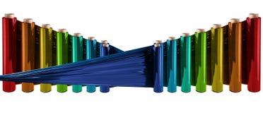 Rozciągliwości folia, polythene film Zdjęcie Stock