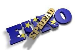 Rozciągnięty przyduszenie Euro Fotografia Stock