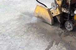 rozcięcie betonowa maszyna Obrazy Stock