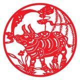 rozcięcie chiński papier Ilustracja Wektor