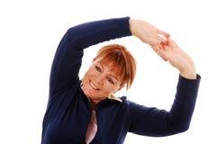 rozciąganie kobieta Zdjęcie Royalty Free