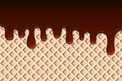 Rozciekła czekolada na opłatkowym abstrakcie tła świeczek dekoraci kropel szklany złocisty wizerunku piasek zabarwiający Obrazy Royalty Free