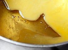 Rozciekły miód i masło zdjęcie royalty free