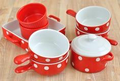 rozdaje ceramiczny czerwony różnorodnego Zdjęcia Royalty Free