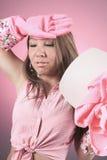 Rozdaje cleaning kobiety poziom to Fotografia Royalty Free