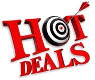 rozdaje logo gorącą czerwień Obraz Stock